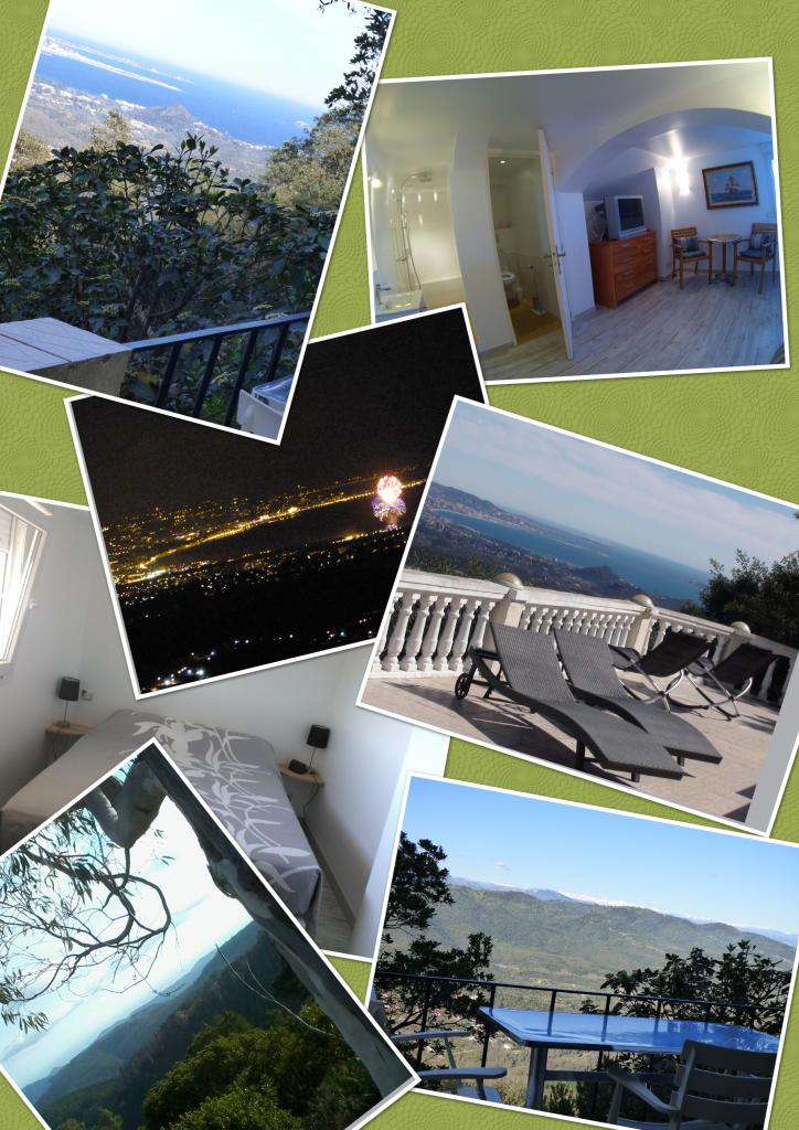 chambre vue mer et montagnes - chambres d'hôtes l'Estérel panoramique